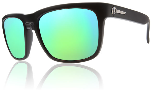 Electric Knoxville Sunglasses Matte Black Grey Green Chrome