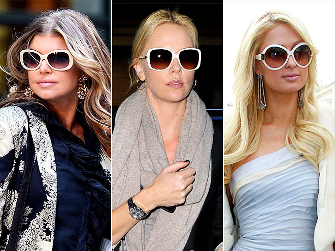white sunglasses celebrities