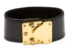 cc skye lock bracelet cuff black