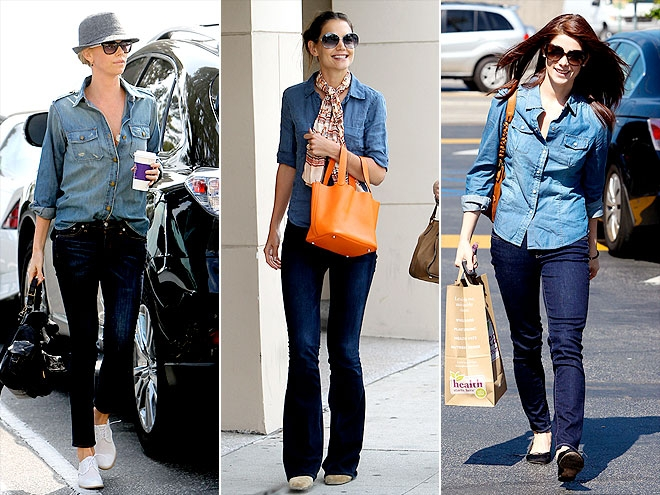 denim on denim fashion style