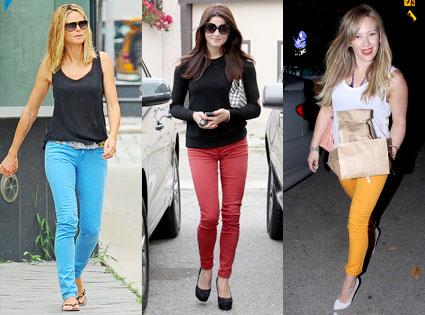 technicolor jeans trend