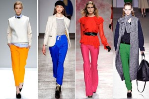 bright colored pants