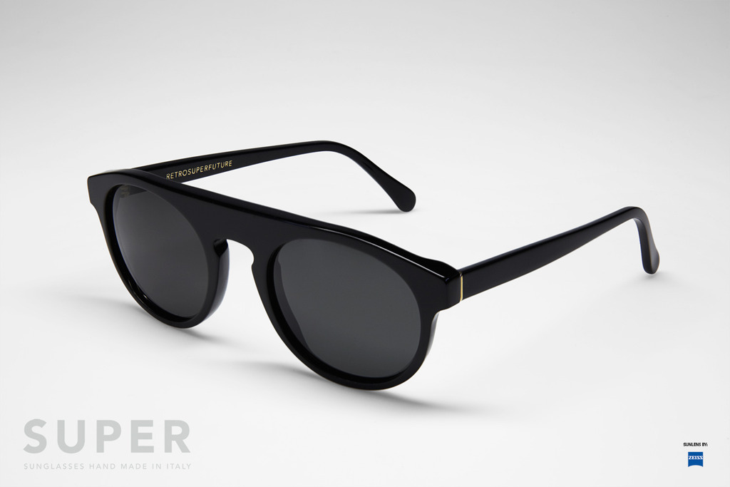 retrosuperfuture racer black sunglasses