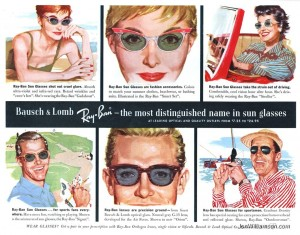 Bausch and Lomb -Ray-Ban 1958