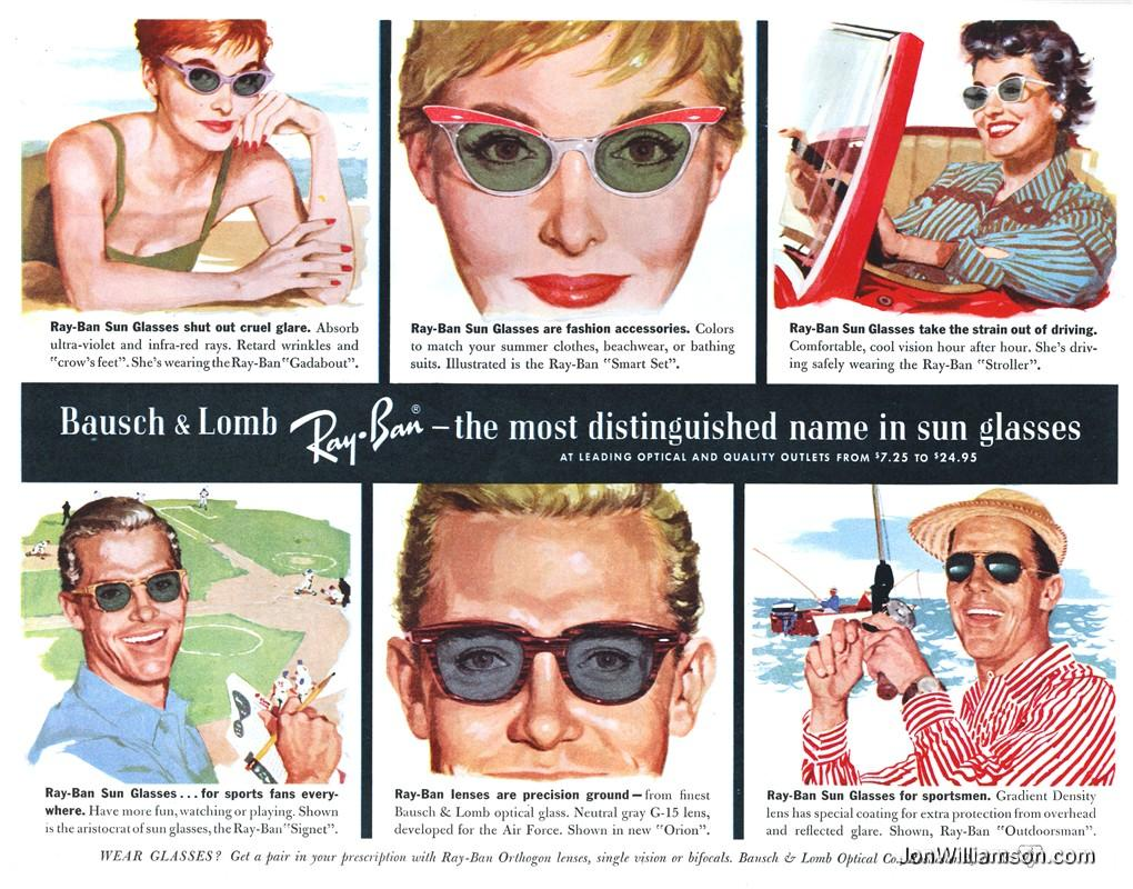 80f8ee46a551dc Ray-Ban (Bausch   Lomb) Vintage Sunglasses Ads - Sunglasses and ...