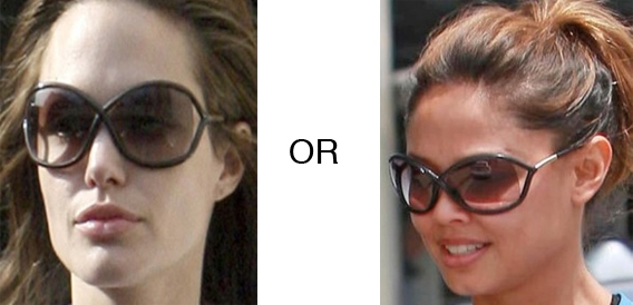 621c702e77f Angelina Jolie or Vanessa Minnillo in Tom Ford Whitney Sunglasses ...