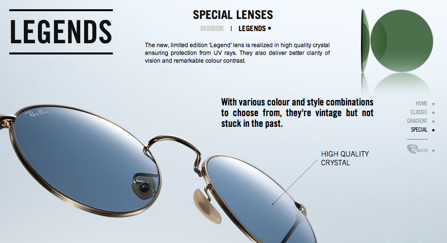 68b01327fe The 5 Types of Ray-Ban Sunglass Lenses - Sunglasses and Style Blog ...
