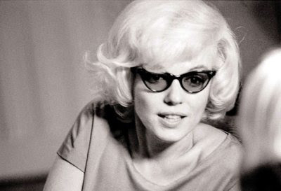 marilyn monroe cat-eye glasses