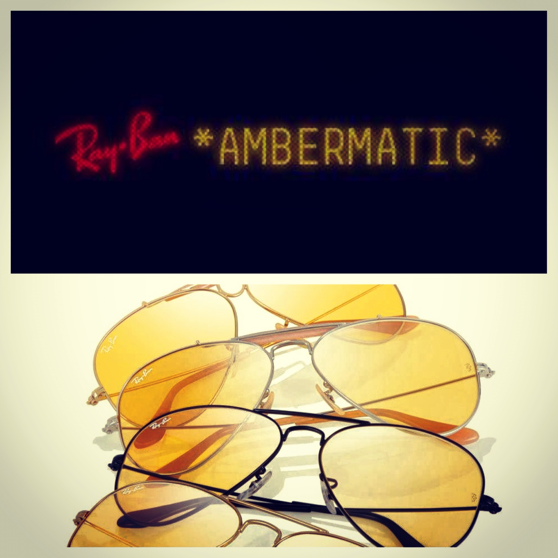 ray ban ambermatic shadesdaddy sunglasses