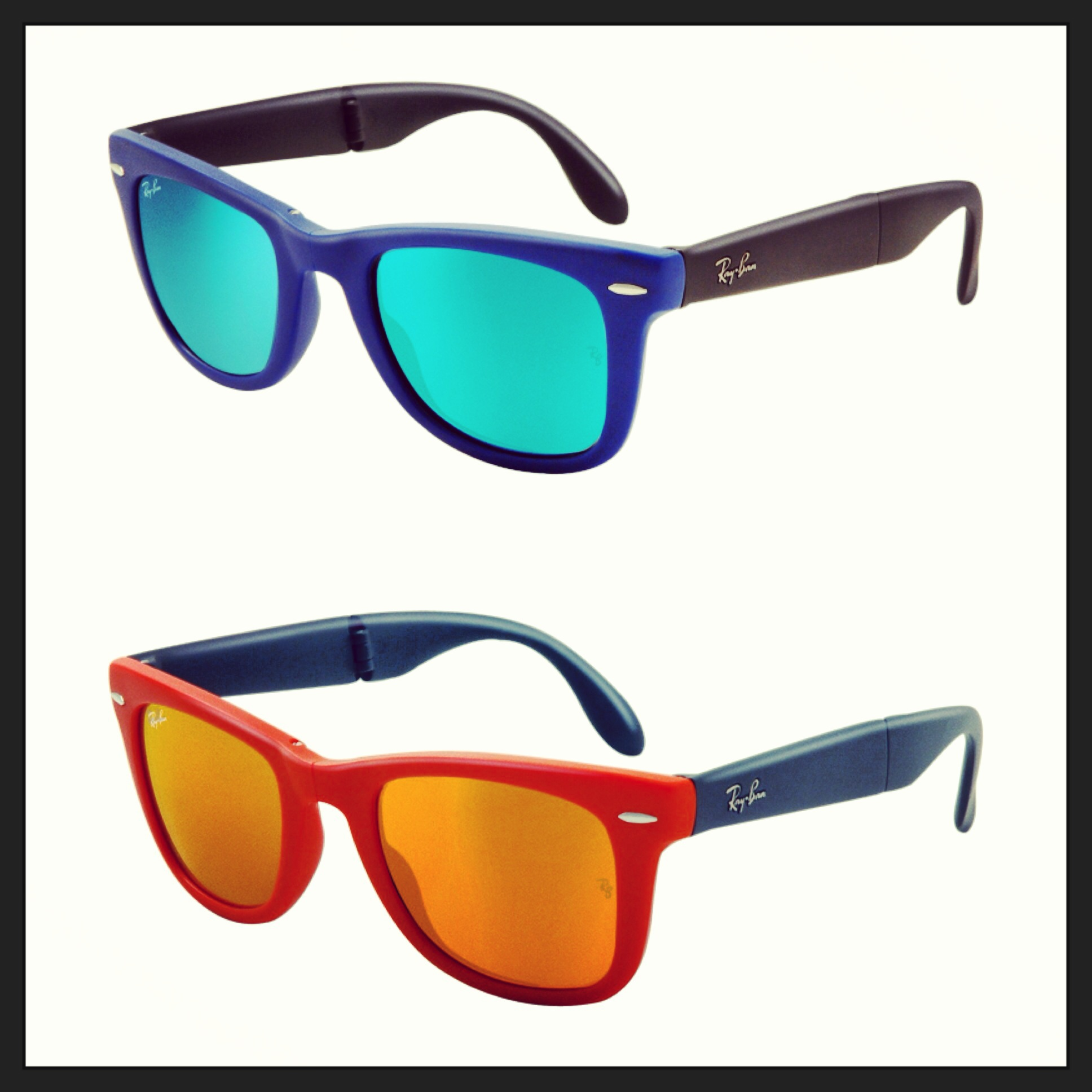 dfd56f8066509 Ray-Ban Folding Wayfarers in Chrome Flash Mirrored Lenses ...