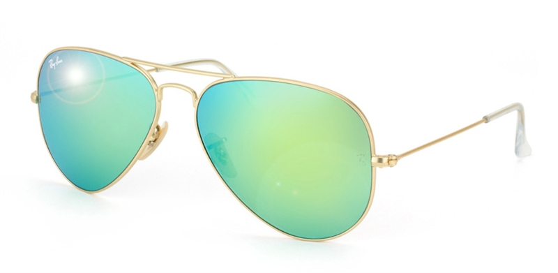 Ray-Ban Aviator Green lens Sunglasses RB 3025