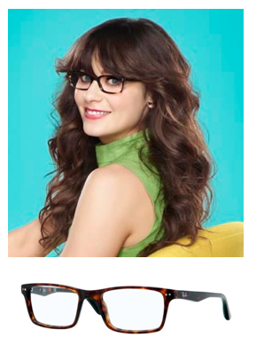 dcdf644f0a zooey deschanel new girl glasses rayban highstreet - Sunglasses and ...