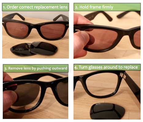 How To Replace Lenses on Ray-Ban Sunglasses | Sunglasses and Style ...
