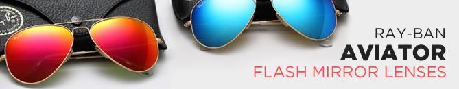 ray ban aviators flash