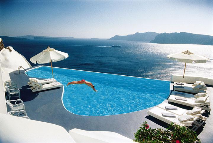 katikies hotel pool santorini