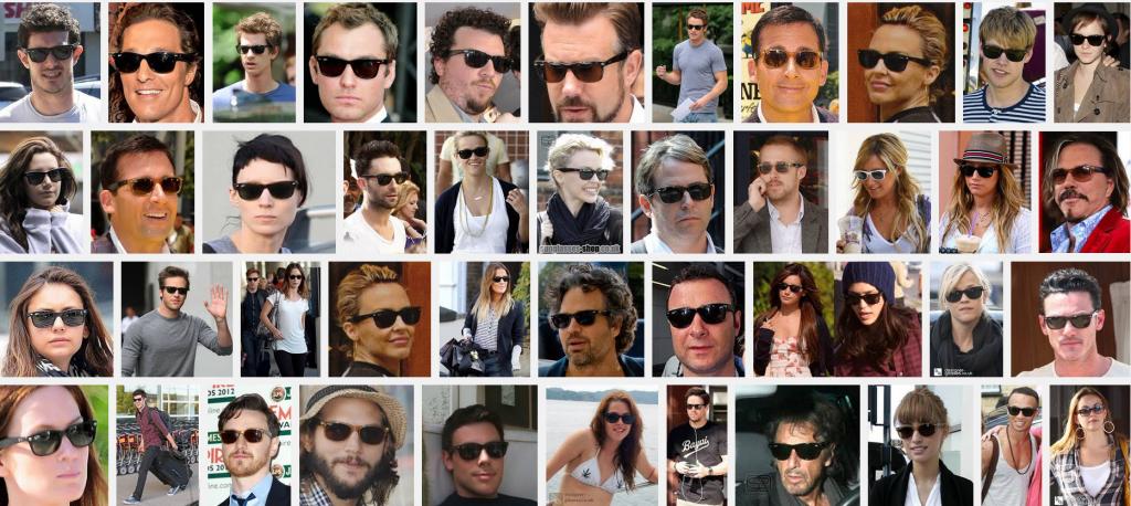 celebrities wearing ray-ban wayfarers 2132