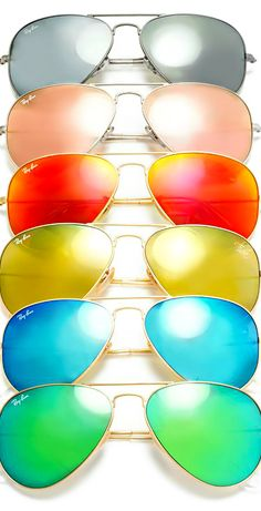 what are ray-ban flash mirror lenses