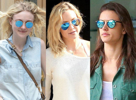 blue mirror sunglasses celebrities