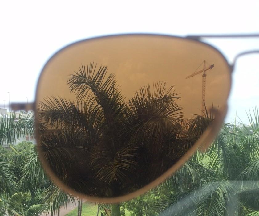 gold mirror lenses inside