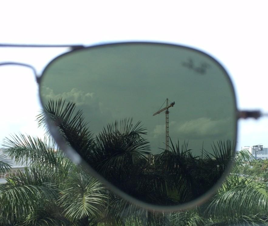 silver mirror lenses inside