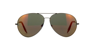 Victoria Beckham Classic Victoria Platinum aviators with mirrored lenses,