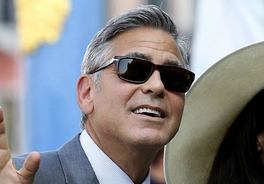 What Sunglasses Is George Clooney Wearing At His Wedding