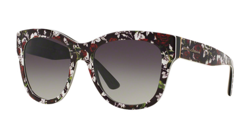 Dolce Gabbana DG4270 Top Print Rose Sunglasses