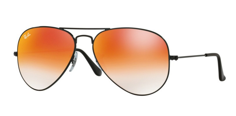 Ray-Ban Aviator Black Red Mirror RB3025 0024W