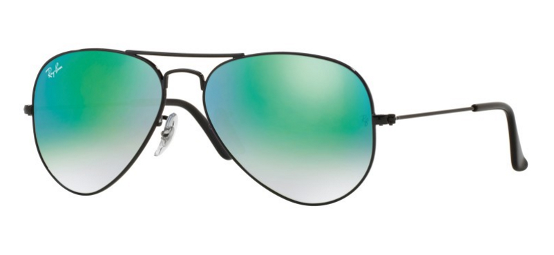 Ray-Ban Aviator RB3025 Black Green Mirror Lenses