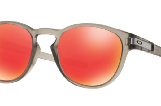 oakley latch matte grey ink sunglasses with ruby iridium lenses
