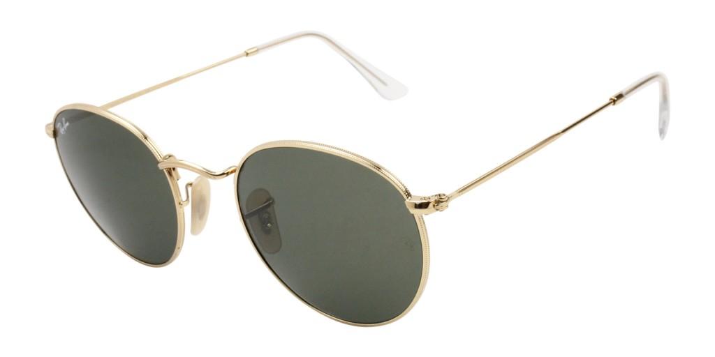 round ray ban sunglasses gold