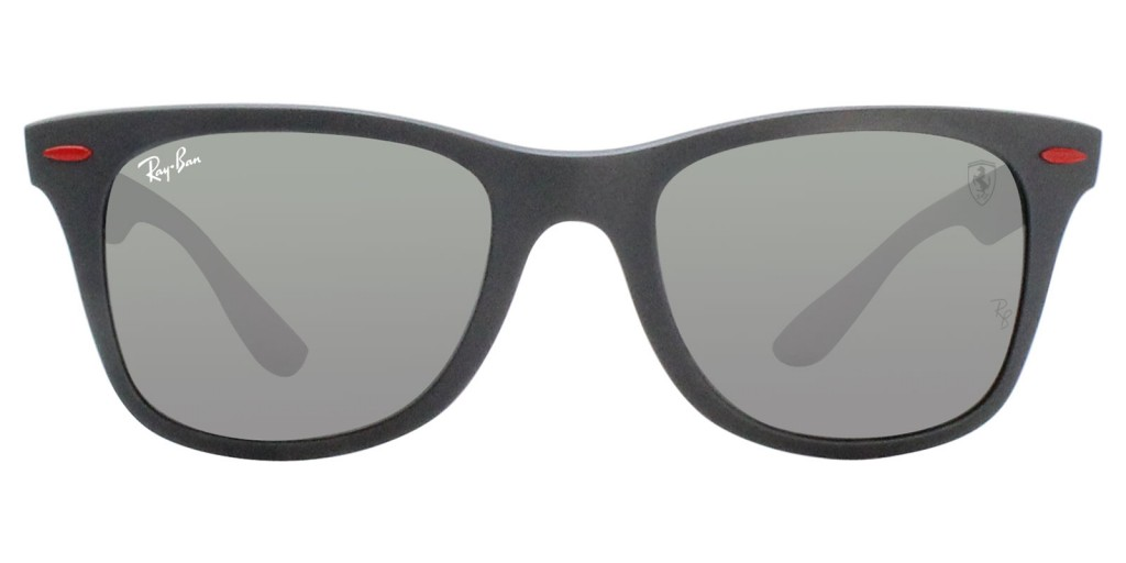 RAY BAN FERRARI LIMITED EDITION RB4195M GREY / GREY LENS MIRROR SUNGLASSES