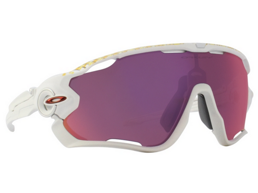 OAKLEY JAWBREAKER WHITE / PURPLE LENS SUNGLASSES