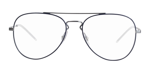RAY BAN RX6413 SILVER BLUE / CLEAR LENS EYEGLASSES