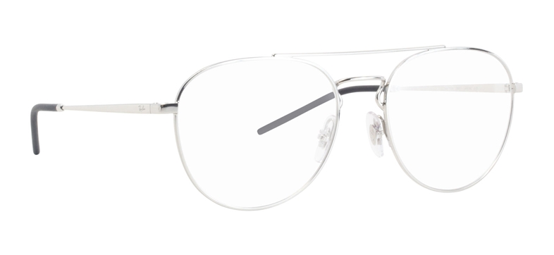 RAY BAN RX6414 SILVER Aviator glasses