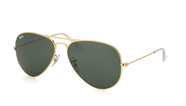 RAY BAN AVIATOR GOLD SUNGLASSES RB 3025 W3234