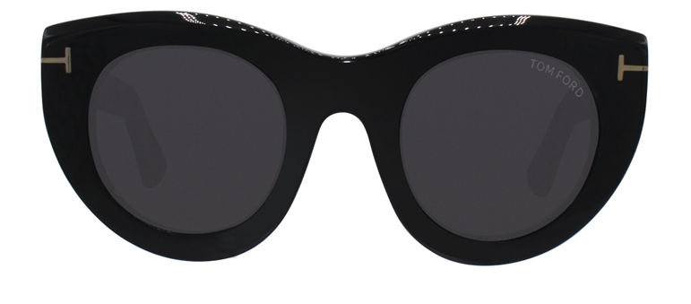 TOM FORD MARCELLA-02 BLACK / GRAY LENS SUNGLASSES