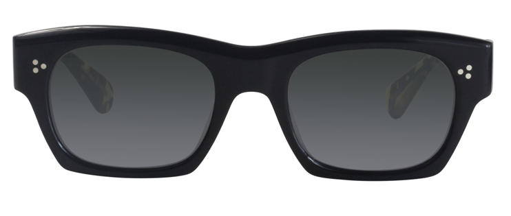 Oliver Peoples Isba Black / Gray Lens Sunglasses