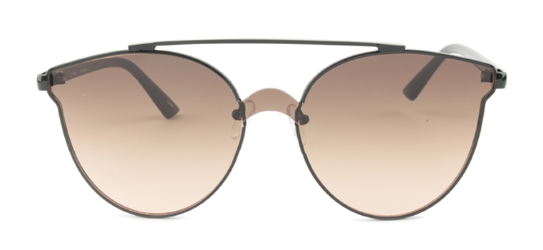 Oval 2604 Black / Brown Lens Sunglasses
