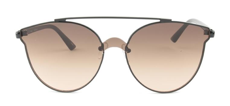 Oval 2604 Black / Brown Lens Sunglasses