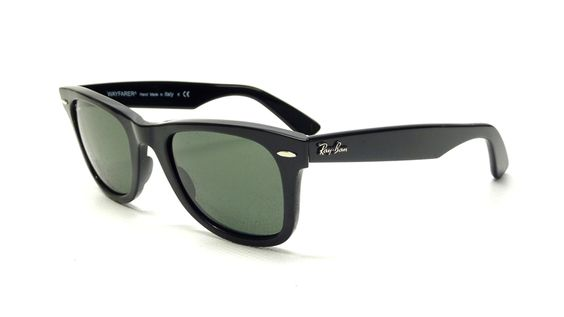RAY BAN BLACK WAYFARER SUNGLASSES RB 2140 901