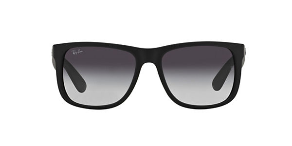 RAY BAN BLACK JUSTIN SUNGLASSES RB4165 601/8G