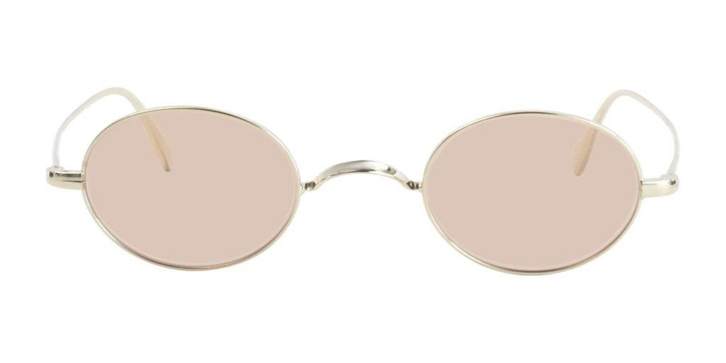OLIVER PEOPLES CALIDOR GOLD / PINK LENS EYEGLASSES