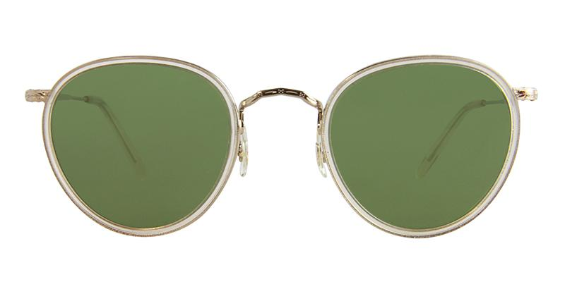 OLIVER PEOPLES MP-2 GOLD / GREEN LENS SUNGLASSES