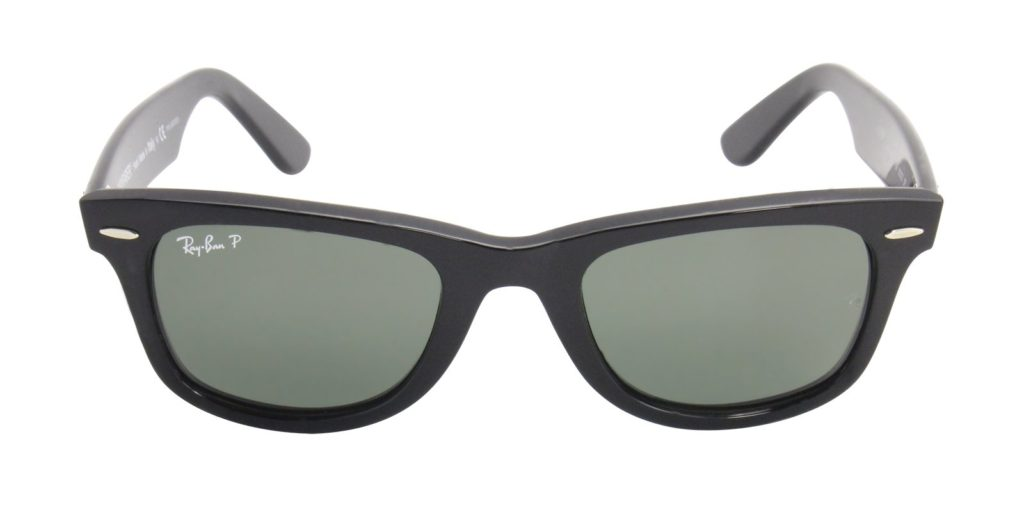 RAY BAN BLACK WAYFARER SUNGLASSES RB 2140 901 - YES - 54MM
