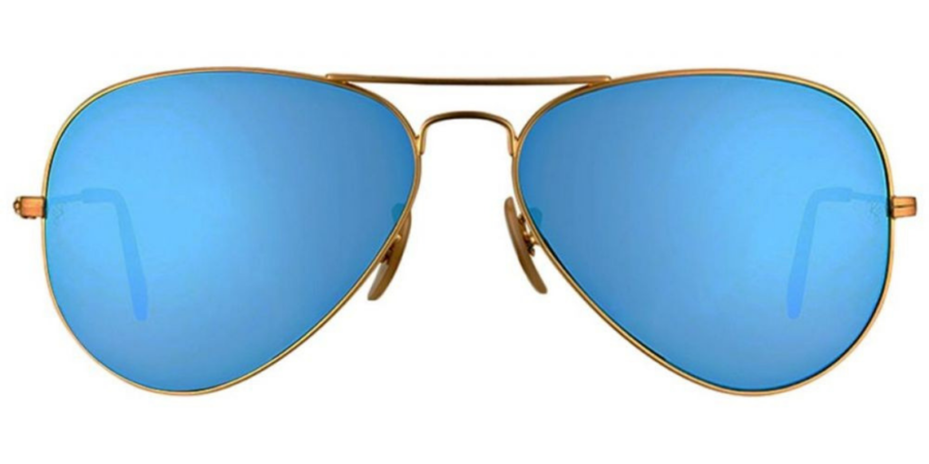 Ray-Ban RB3025 Mirrored Aviator Sunglasses