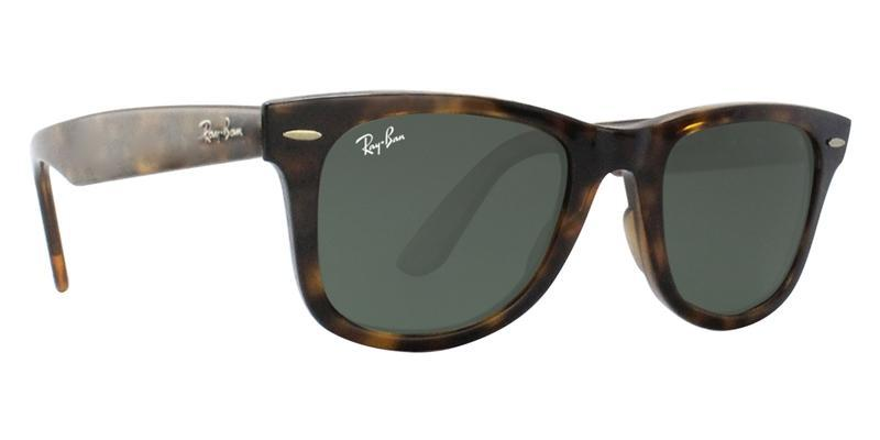 RAY BAN RB4340 TORTOISE / GREEN LENS SUNGLASSES