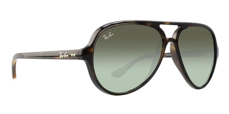 RAY BAN RB4125 CATS 5000 TORTOISE / GREEN LENS SUNGLASSES