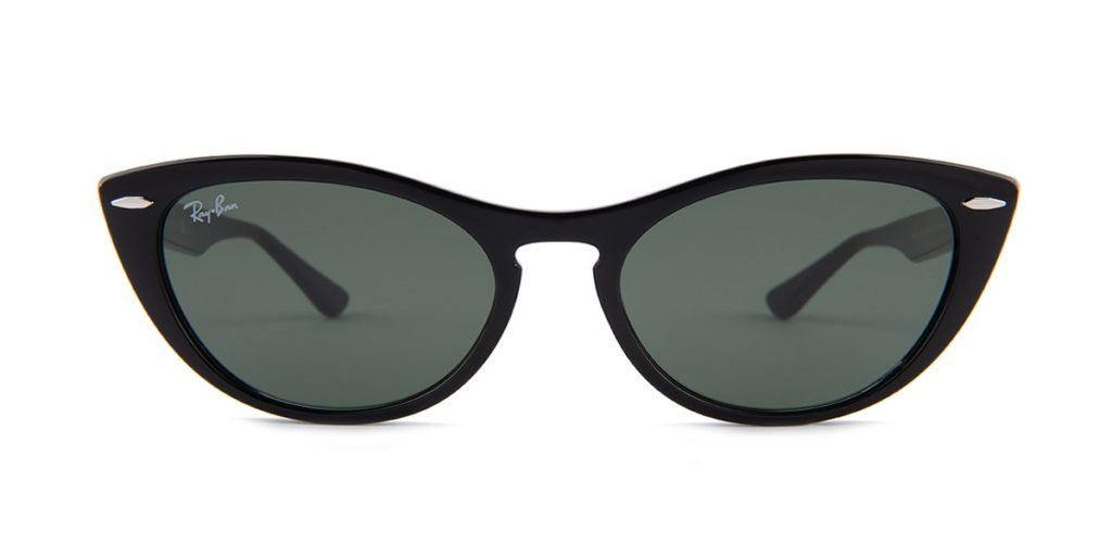 Oval cat-eye sunglasses for square face shape