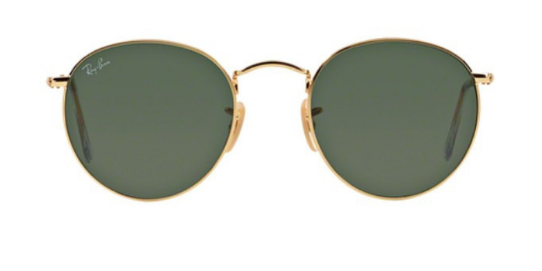 RAY BAN RB3447 GOLD / GREEN LENS POLARIZED SUNGLASSES